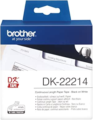 Brother DK-22214 - Thermal Paper - White - Roll (1.2 cm x 30.5 m)