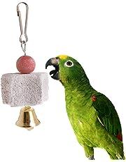 Pierre de broyage minérale en forme d'étoile pour perroquet, nettoyage des dents, vivianu à suspendre, jouets molaires pour oiseaux, petite perruque Cockatiel
