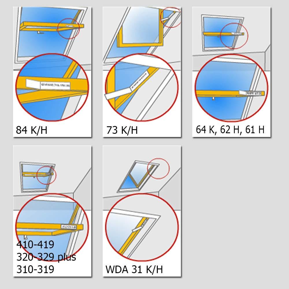 R48 Alu Jalousette Aluminium Jalousie R78 7/9/in Farbe E226/silber metallic Dekologi Jalousien mit Seitenschienen für Roto für R45 R75