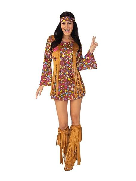 Amazon.com: Rubies Peace - Disfraz de hippie para mujer, S ...