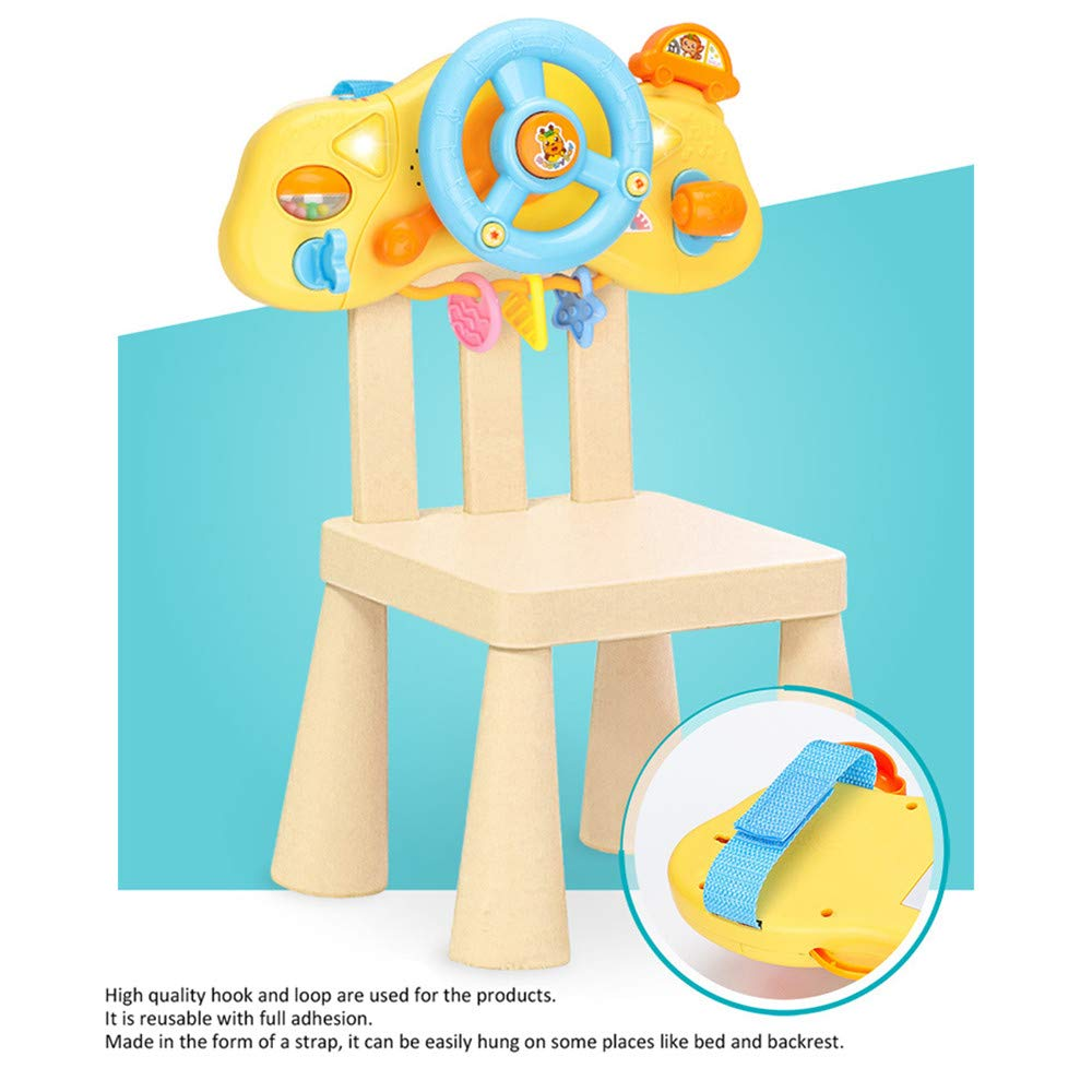 Baby Toddler Steering Wheel Driver Role Play Pushchair Games with Light adnd Music Songs Chinese Baby Activity Toy BulzEU