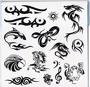 Pack Of 40 Designs Fake Pretend Temporary Childrens Tattoos For Boys