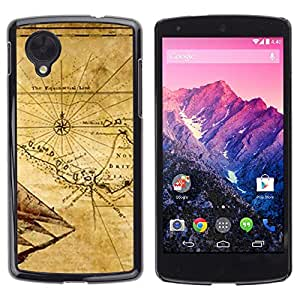 TECHCASE**Cubierta de la caja de protección la piel dura para el ** LG Google Nexus 5 D820 D821 ** Map Ancient Britain Geography Eart Continent
