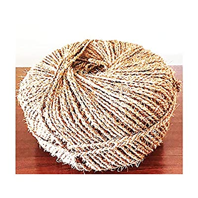 Organic Garden Twine Made of 100% Natural Coconut Fiber, Weight per Spool is 7 Lbs, and Length is + 1100 Feet, from Our Own Production. : Garden & Outdoor