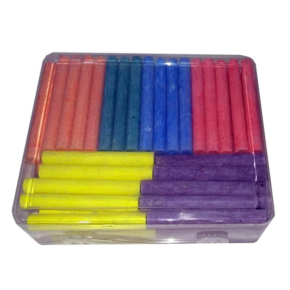 NXT Dustless Multicolor Chalks (60 Counts) Premium Quality, Non Toxic, Easily Washable and Eco Friendly Chalks by NXT (Image #3)