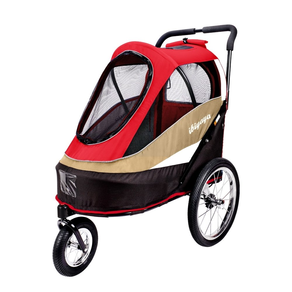 ibiyaya 2-in-1 Heavy Duty Dog Stroller/Pull behind Bike Trailer for Medium & Large Dogs