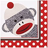 BirthdayExpress Sock Monkey Party Supplies - Lunch Napkins (20)