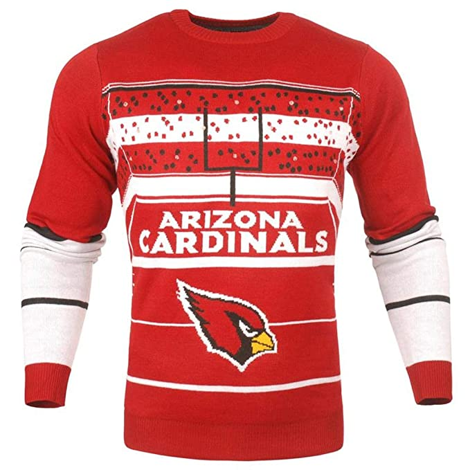 12225adec7f9 Image Unavailable. Image not available for. Color  Arizona Cardinals Mens  Stadium Light Up Crew Neck Ugly Sweater ...