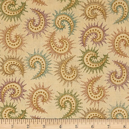 (Henry Glass 108in Quilt Backing Spiced Paisley Dark Tan Fabric by The Yard,)