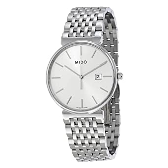 Amazon.com: Mido M0096101103100 Watch Dorada Mens M009.610.11.031.00 Silver Dial Stainless Steel Case Quartz Movement: Watches