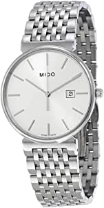 Mido M0096101103100 Watch Dorada Mens M009.610.11.031.00 Silver Dial Stainless Steel Case Quartz Movement