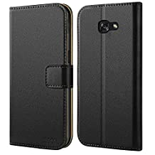 Galaxy A5 2017 Case, HOOMIL [Slim Fit] Premium Leather Case for Samsung Galaxy A5 2017 Phone Cover (Black)