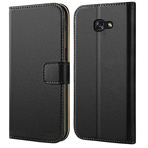HOOMIL Galaxy A3 2017 Case Premium Leather Case for Samsung Galaxy A3 (2017) Phone Wallet Case Cover (Black)