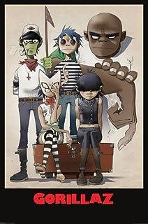 amazon com music alternative rock posters gorillaz all here
