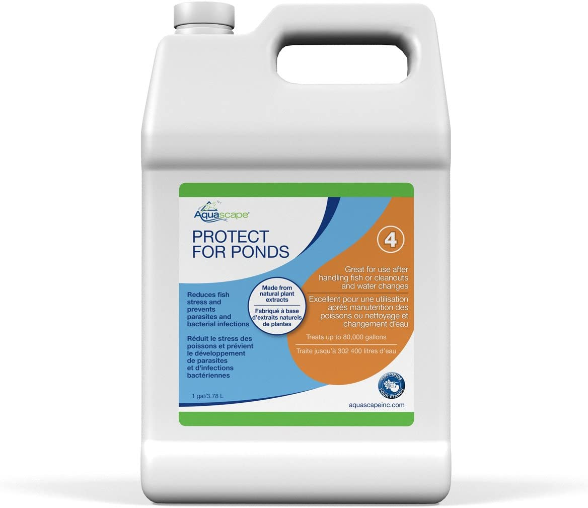 Aquascape PROTECT Water Treatment Koi and Fish Ponds, All-natural Formulation Effectively Reduces Fish Stress and Promotes Fish Health, 1 gallon / 3.78 L  96072