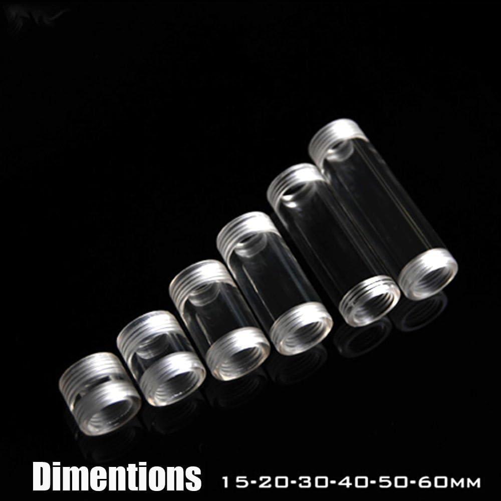 180mm Acrylic Rigid Tubing G1//4 Threaded 12mm ID 18mm OD