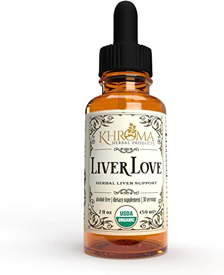 Liver Love - Organic Liver Support - 2 oz Liquid Dietary Supplement - Alcohol Free