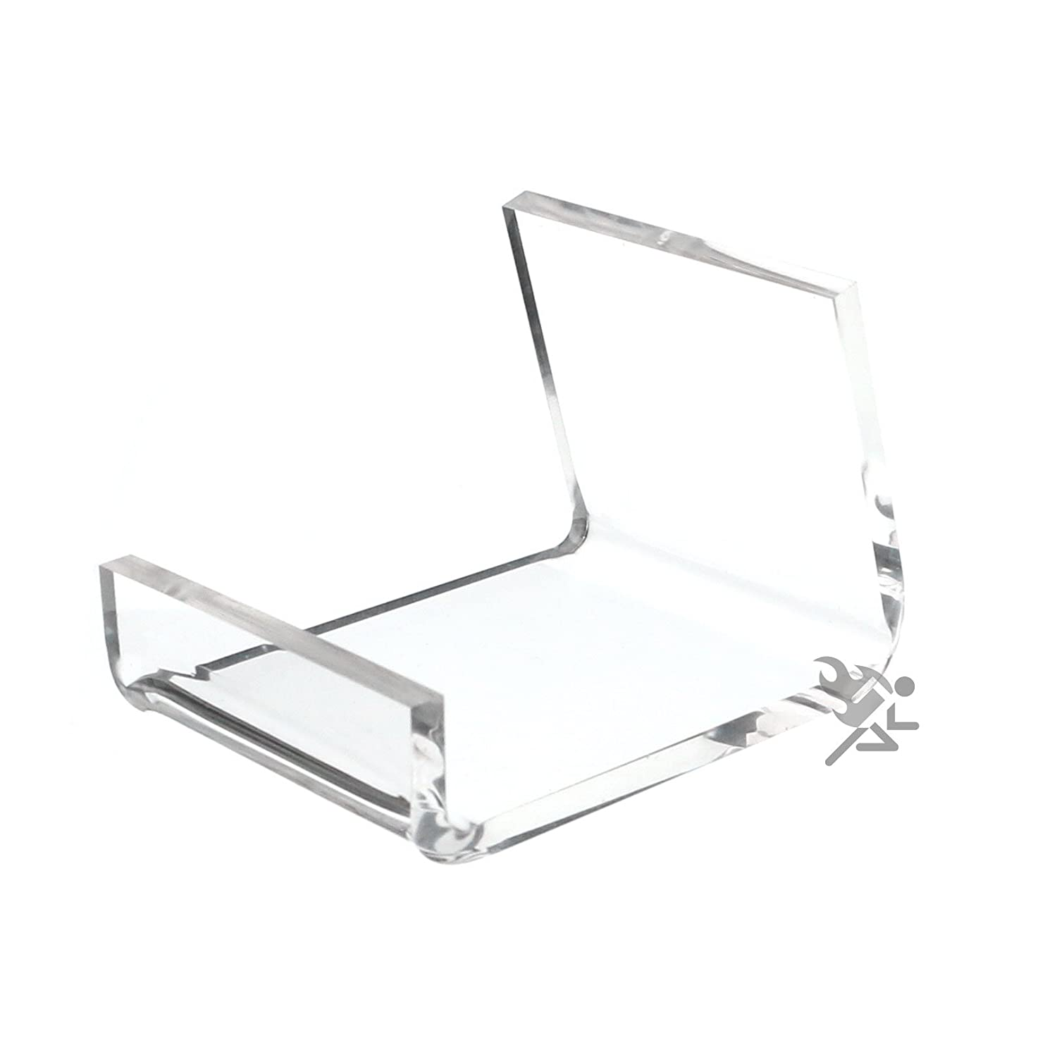 (1) Clear Acrylic Home Office Retail Display Case Cell Phone Holder Stand Easel