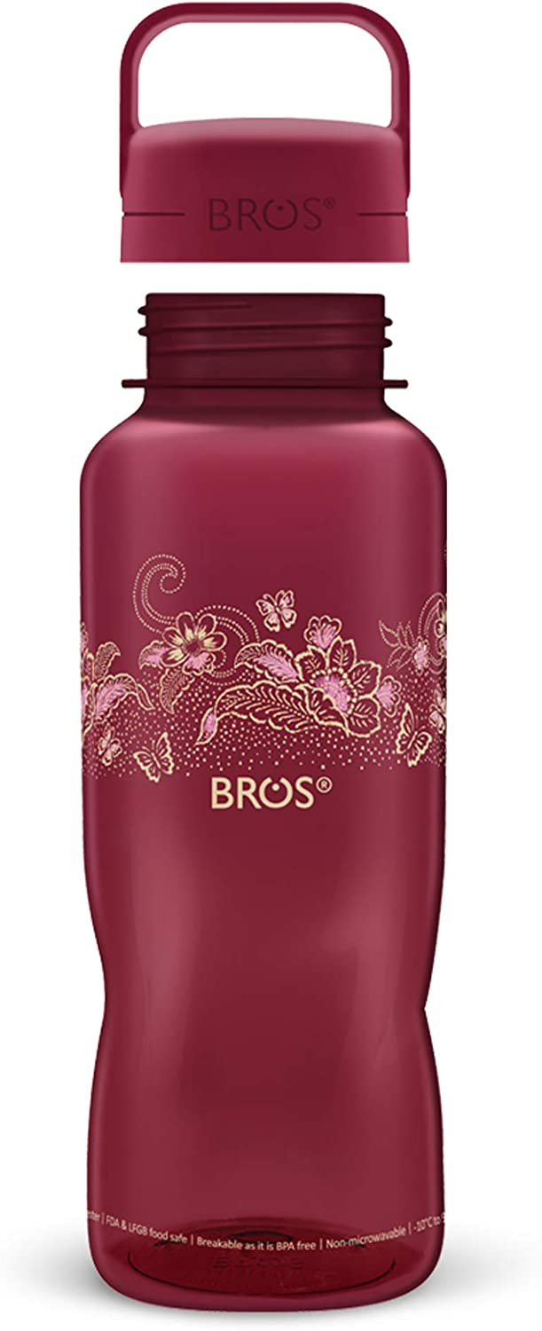 Leak Proof Spill Proof and Durable with Fun Perfect for Fitness Crystal Creative Designs with Sipper to Control Water Flow Outdoors and Activities BROS BPA Free Sports Water Bottle
