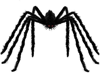 Lot de 2 Extensible Spider s//n Web Décoration Halloween avec 6 Grandes Araignées