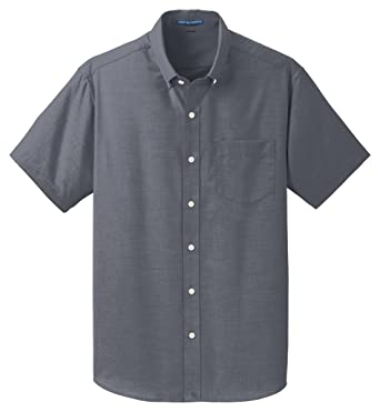 56b28d056 Port Authority Short Sleeve SuperPro Oxford Shirt S659 at Amazon Men's  Clothing store: