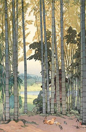 """Japanese Art Print """"Bamboo Grove"""" by Yoshida Hiroshi"""
