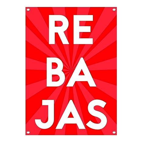 Lona Rebajas | Cartel de Rebajas | Cartel Publicitario Rebajas (50x70cm) con