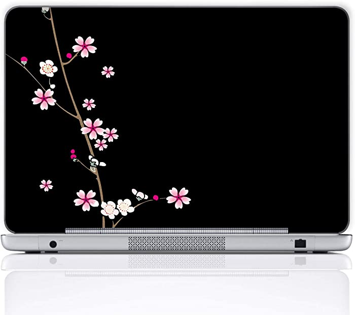 Meffort Inc 15 15.6 Inch Laptop Notebook Skin Sticker Cover Art Decal (Included 2 Wrist pad) - Plum Blossoms