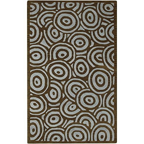 (Surya Artist Studio ART-81 Contemporary Hand Tufted 100% New Zealand Wool Brown 9' x 13' Area Rug)