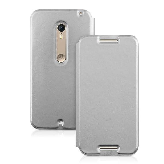 san francisco 31f5c b2167 Amazon.com: kwmobile Flip Case for Motorola Moto X Style - Book ...