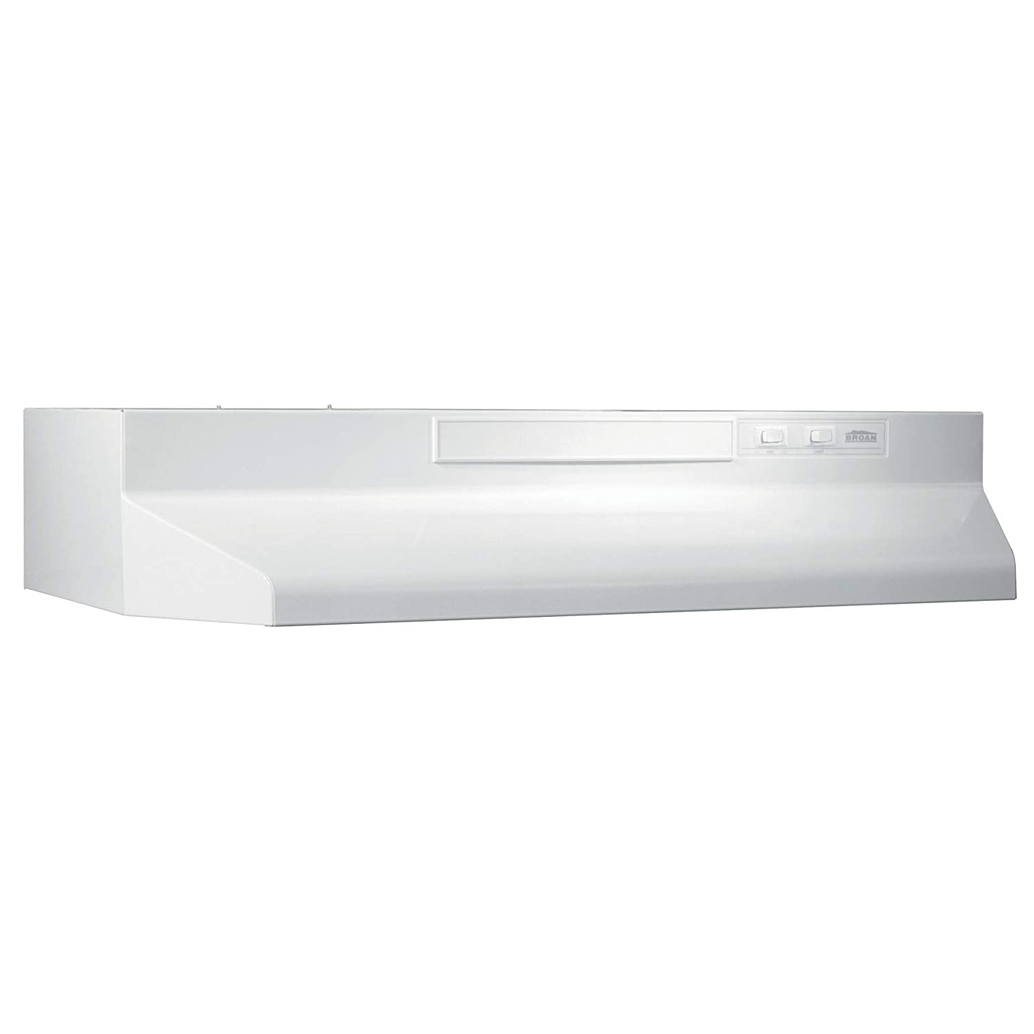 Broan-NuTone White Broan F403611 Two-Speed Four-Way Convertible Range Hood, 36-Inch