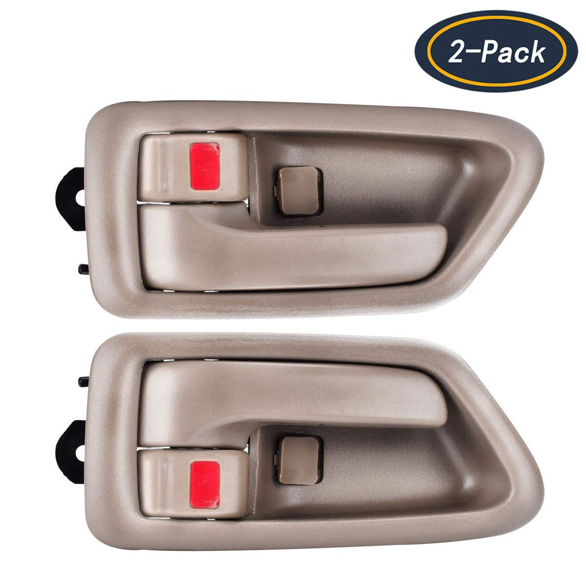 faersi 2Pcs Inside Interior Door Handle Front Rear Driver & Passenger Side for 1997 1998 1999 2000 2001 Toyota Camry Beige/Tan
