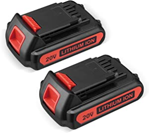 20V 3.0Ah Replacement Battery Compatible for Black and Decker 20v Max LBXR20 LB20 LBX20 LBX4020 Extended Run Time Cordless Power Tools Series 2Pack