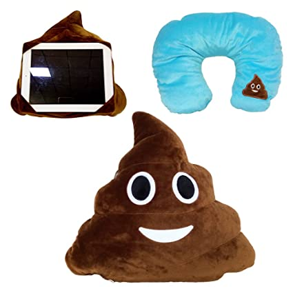 Amazon.com: 3 en 1 caca Emoji de almohada Poo soporte de ...