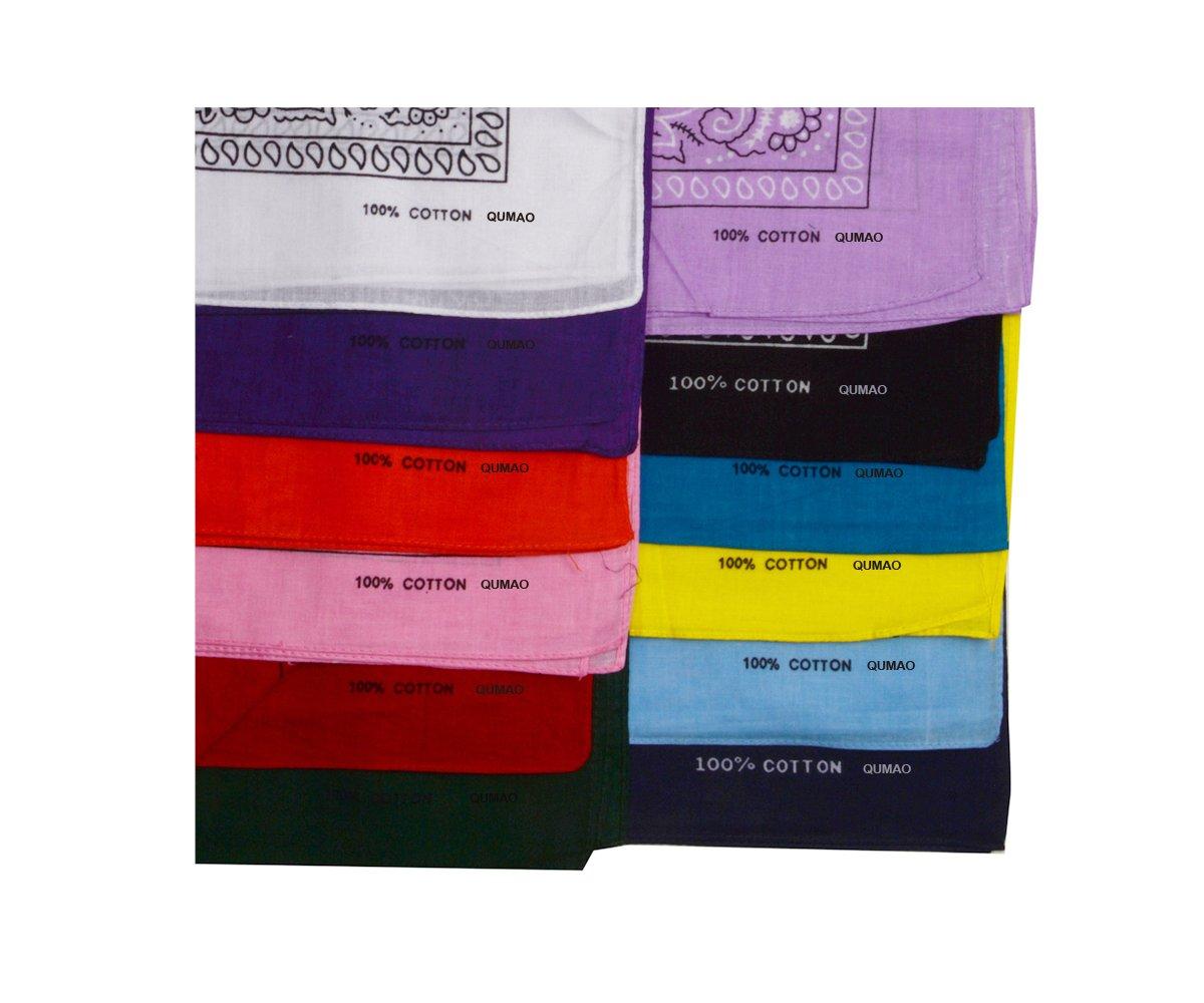 a170f86e3ee0 12 pcs Bandana Foulard Original Paisley 100% Coton Multicolore Env.55cm 55cm  QM-GB10276