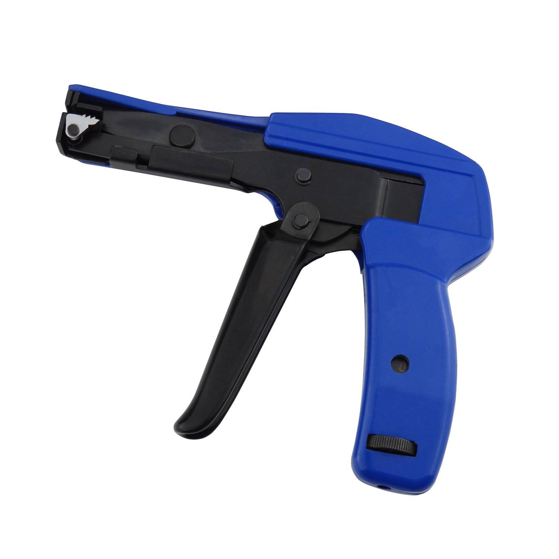 Mini Adjustable Cable Tie Gun, Plastic Nylon Cable Fastening Cutting Tool