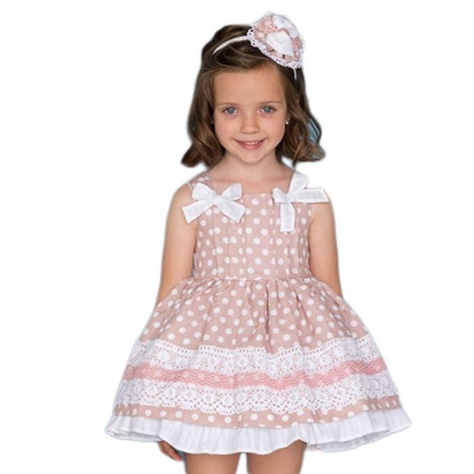 bastante agradable más popular nuevo alto DOLCE PETIT - Vestido NIÑA niñas Color: Maquillaje Talla: 12 ...
