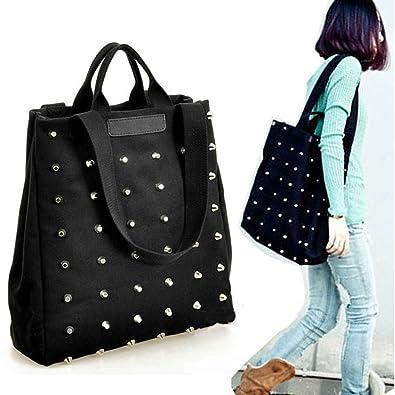 b808fed39ce Amazon.com: Hot Sale Designer Good Women's Punk Style Rivets Canvas ...