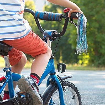 Bike Handlebar Streamers Scooter Grips Streamers Tassel Ribbons for Boys Girls Paliston 1 Pair 2pcs
