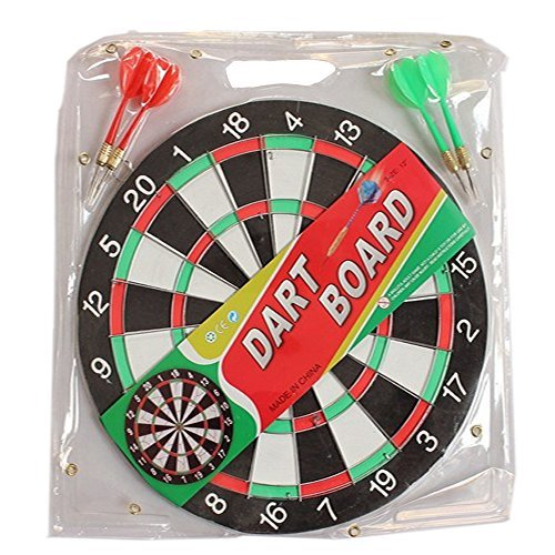 Ezyoutdoor Dart Game Set with 4ダーツとボードDartボードBackboard Dartboardゲームルームサイズ12cmの