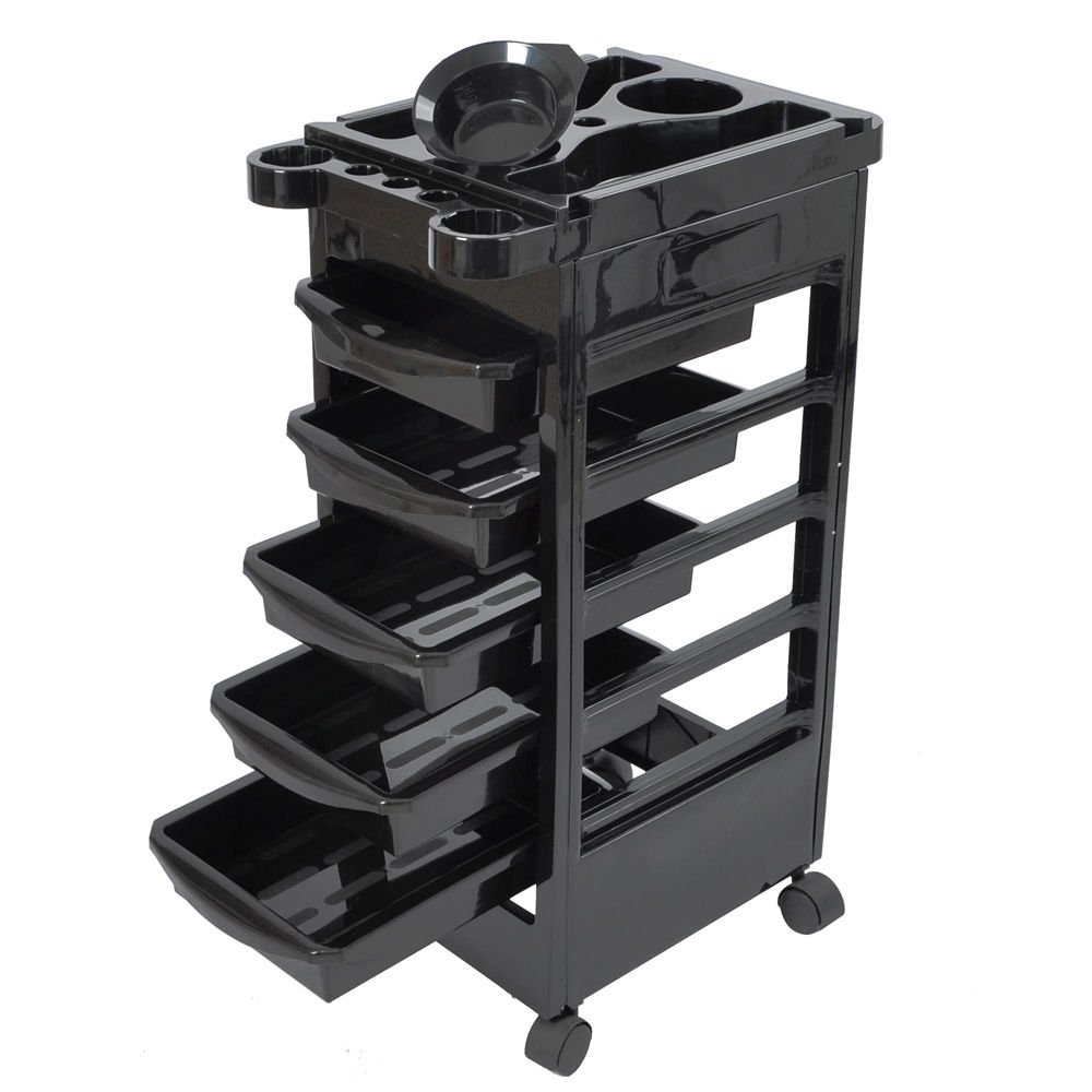 Salon SPA Trolley Storage Cart Coloring Beauty Salon Rollabout Hair Dryer Holder AW