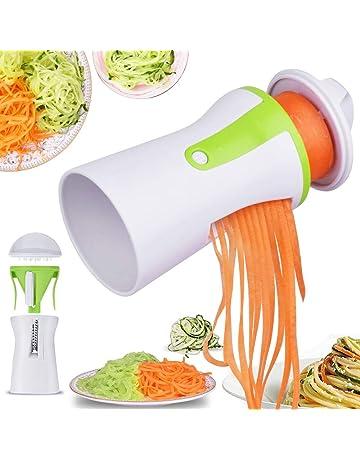 Letilio Cortador de Verduras - Cortador Espiral Verduras manual,Calabacin Pasta,Zucchini Spiralizer,