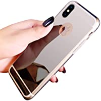 Coque iPhone XR,Miroir Housse Coque Silicone TPU pour iPhone XR,Surakey Bling Briller Diamond Coque Miroir Etui TPU Téléphone Coque de protection pour iPhone XR, Argent