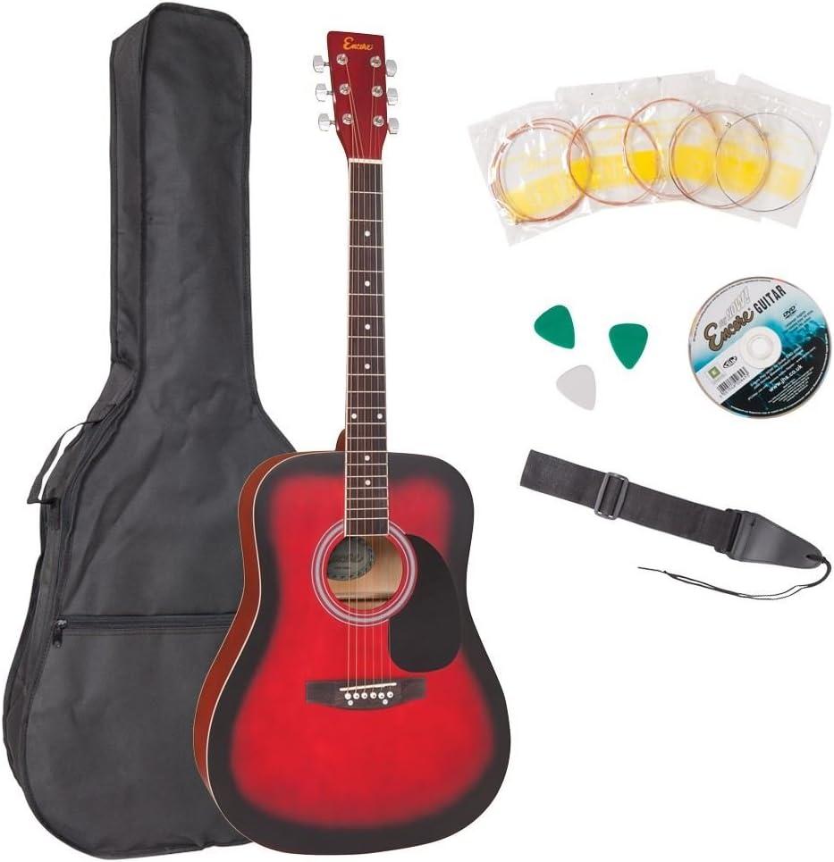 Encore Guitarra Acústica – Color Granate: Amazon.es: Instrumentos ...
