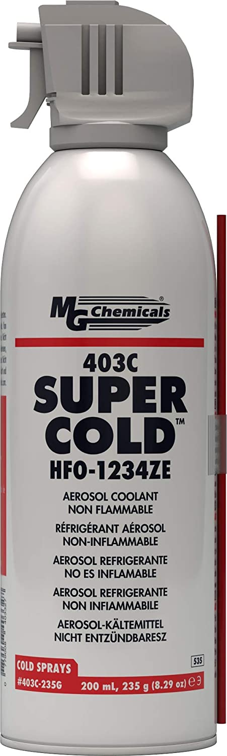 MG Chemicals 403C-235G Super Cold Spray, HFO-1234ZE, Clear