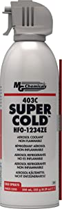 MG Chemicals 403C Super Cold Spray, HFO-1234ZE, 235 Gram Aerosol