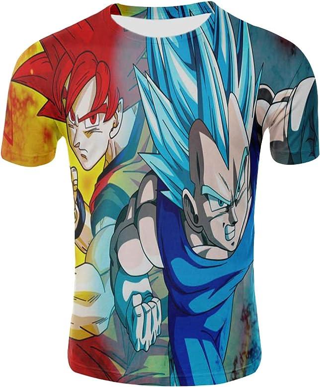 Camiseta Dragon Ball Niño Unisex 3D Impresión Hombres Mujer Camisetas y Camisas Deportivas Camisetas de Manga Corta T Shirt Dibujos Animados de Fans Streetwear Camisetas de Verano (TX-QLZ-0378, S): Amazon.es: Ropa y