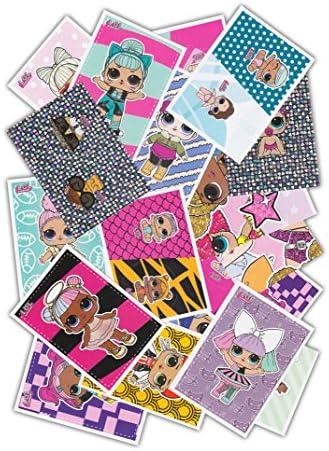 L.O.L. Surprise Panini Collectible Dolls – 50 pegatinas coleccionables variadas, sin repetidas, edición alemana: Amazon.es: Juguetes y juegos
