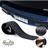 COSMOSS Rear Bumper Protector Guard by, Easy D.I.Y. Installation, Black Flexible Rubber Trunk Door Entry/Rear Bumper Guard, Prevent Scratches While Unloading and Loading fits most cars (36 inch)