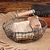 Handcrafted Farmhouse Round Wire Basket